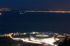 Night Aereial view of Green Point Stadium Stock Photography