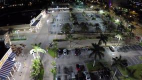 Night aerial video stock footage