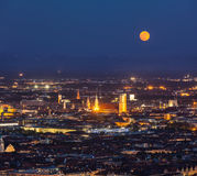 Night aerial view of Munich, Germany Royalty Free Stock Images