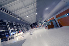 Night at the airport without people Royalty Free Stock Image