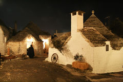 Night in alberobello Royalty Free Stock Images