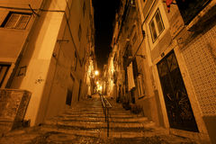 At night in the Alfama Royalty Free Stock Images