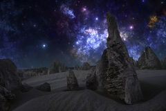 Night on the alien planet Royalty Free Stock Photos
