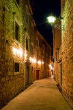 Night alley Stock Images