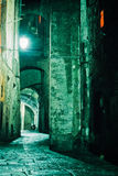 Night Alley In Old City Of Siena, Tuscany, Italy Stock Images