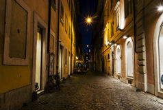 Night alley near Piazza di San Lorenzo Stock Images