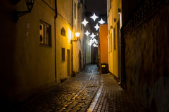 Night alley Stock Image