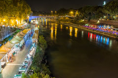 Night along the Tiber Royalty Free Stock Photography