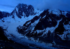 Night alpine scene Royalty Free Stock Image