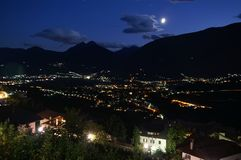 Night in the Alps 5. This picture shows a locality in the mountains of the alps in Austria/Italy royalty free stock images