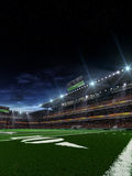 Night american football arena Royalty Free Stock Photos