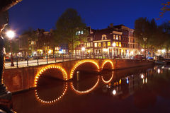 Night in Amsterdam Royalty Free Stock Image