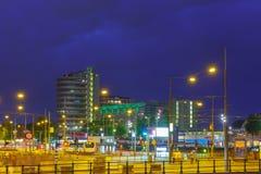 Night Amsterdam, Netherlands. Long exposure. Stock Images