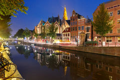 Night Amsterdam red-light district De Wallen Stock Images