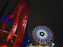 Night amusement park Stock Photography