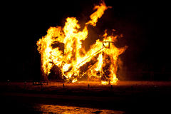 The Night of Ancient Bonfires Stock Photography