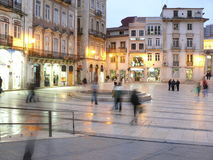 Night is approaching in Coimbra. After the sunset in Coimbra the night is approching Royalty Free Stock Photography