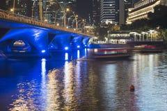 Night Singapore illumination royalty free stock images