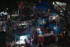 Night asian food market, Gili island, Indonesia Stock Photo