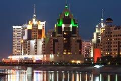 Night Astana royalty free stock photos