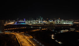 Night Astana. downtown Royalty Free Stock Image