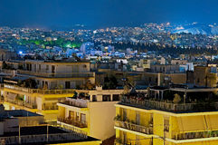 Night Athens, Greece Stock Photo