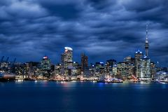 Night Auckland, North Island, New Zealand royalty free stock image