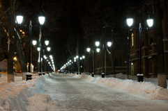Night avenues Royalty Free Stock Images