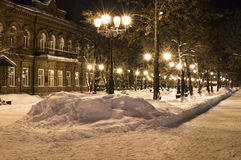 Night avenues Stock Images