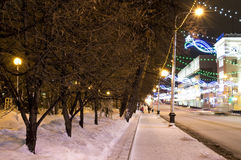 Night avenues Stock Photo