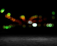 Night background. Bokeh city lights Royalty Free Stock Photo