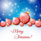 Night background with Christmas balls. Royalty Free Stock Photography