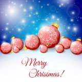 Night background with Christmas balls. Royalty Free Stock Photos