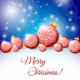 Night background with Christmas balls. Vector illustration vector illustration