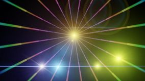 Background with shiny colored lights. Night background with colored lights and bright rays of great effect Royalty Free Stock Photo