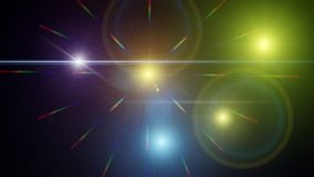 Background with shiny colored lights. Night background with colored lights and bright rays of great effect Stock Image