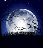 Night background with the moon Stock Photography