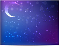 Night background with moon and stars Royalty Free Stock Photos