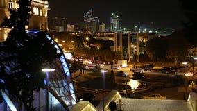 Night Baku stock video footage