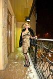 Night balcony view Stock Image