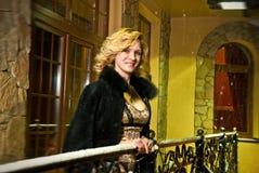 Night balcony view Royalty Free Stock Photography
