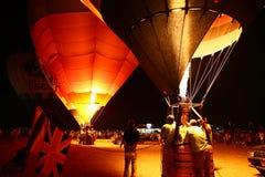 NIGHT BALLOONS RISING FESTIVAL Royalty Free Stock Image