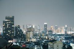 Night Bangkok backdrop Stock Photos