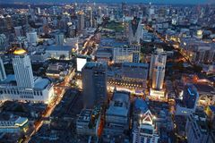 Night Bangkok from high Royalty Free Stock Images
