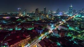 Night bangkok roof top traffic streets 4k time lapse thailand. Thailand night bangkok roof top traffic streets 4k time lapse stock video