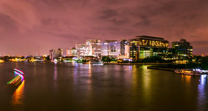 Night Bangkok. Bangkok show the light in the building Royalty Free Stock Photo