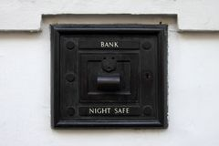 Night bank deposit safe Stock Images