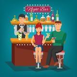 Night Bar Design Concept Royalty Free Stock Photo