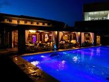 Night bar. A hot summer night near a night-bar swimming Royalty Free Stock Images