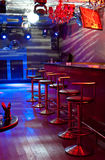 Night bar interior Stock Photos